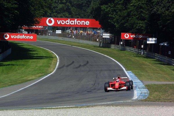 Rubens Barrichello(BRA) Ferrari F1 2001 German Grand Prix Practice, Hockenheim 27 July 2001 DIGITAL IMAGE