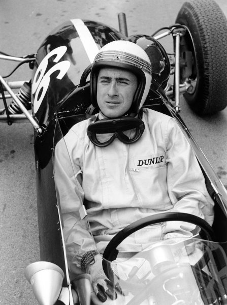 1964 Monaco F3 Grand Prix.Monte Carlo, Monaco. 9 May 1964.Jackie Stewart (Cooper T72-BMC), 1st position. Portrait, cockpit, helmet.World Copyright: LAT PhotographicRef: 10953E/3A-4