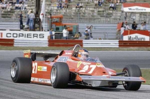 1981 Dutch Grand PrixZandvoort, Holland. 28-30 August 1981.Gilles Villeneuve (Ferrari 126CK), retired. Ref - 81HOL19.World Copyright - LAT Photographic