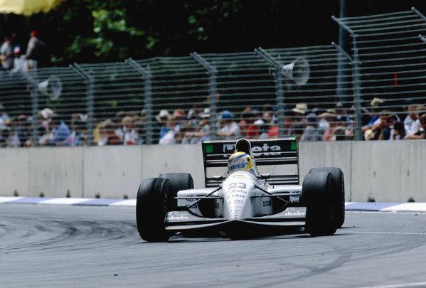 1993 Australian Grand Prix.Adelaide, Australia. 5-7 November 1993.Jean-Marc Gounon (Minardi M193 Ford).Ref-93 AUS 42.World Copyright - LAT Photographic
