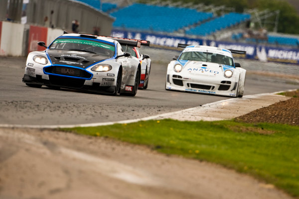 Silverstone, England. 30th April - 2nd May 2010. Luc Paillard / Thomas Accary (Hexis AMR Aston Martin DBRS9)  Action. World Copyright: Drew Gibson/LAT Photographic. Digital Image MF6E1636