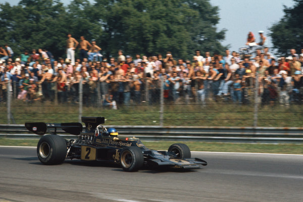 1973 Italian Grand Prix.  Monza, Italy. 7-9th September 1973.  Ronnie Peterson, Lotus 72E Ford, 1st position.  Ref: 73ITA17. World copyright: LAT Photographic
