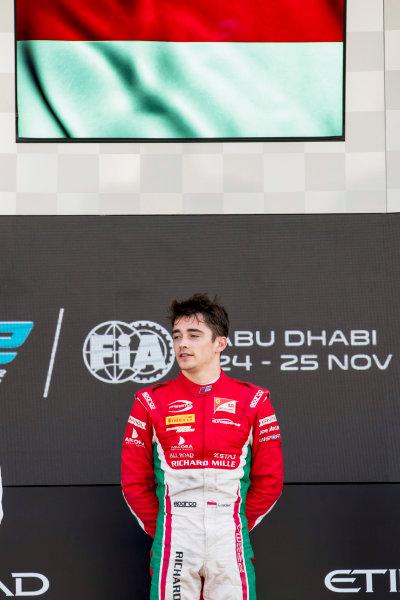 2017 FIA Formula 2 Round 11. Yas Marina Circuit, Abu Dhabi, United Arab Emirates. Sunday 26 November 2017.Charles Leclerc (MCO, PREMA Racing).  Photo: Zak Mauger/FIA Formula 2. ref: Digital Image _56I2509