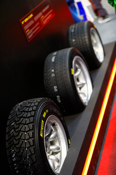 Autosport International Exhibition. National Exhibition Centre, Birmingham, UK. Sunday 14th January 2018. The Pirelli stand.World Copyright: Ashleigh Hartwell/LAT Images Ref: _R3I9665