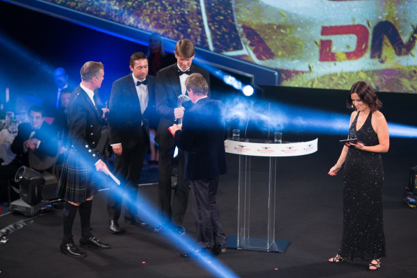 2017 Autosport Awards Grosvenor House Hotel, Park Lane, London. Sunday 3 December 2017. Malcolm Wilson accepts the Rally Car of the Year Award for the Ford Fiesta RS WRC. World Copyright: Joe Portlock/LAT Images  ref: Digital Image _L5R8568