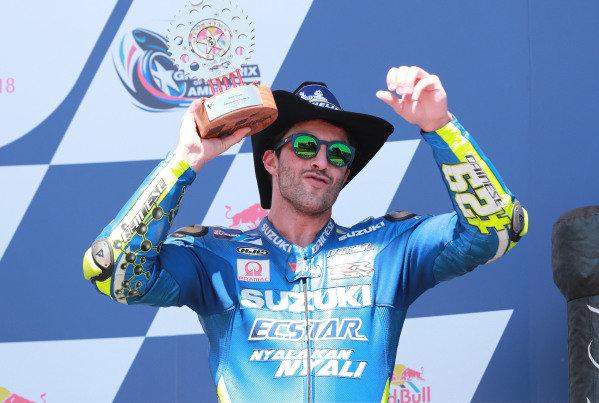 Podium: Andrea Iannone, Team Suzuki MotoGP.