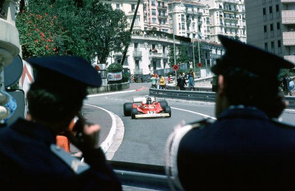 Monte Carlo, Monaco.20-22 May 1977.Carlos Reutemann (Ferrari 312T2) 3rd position.Ref-77 Mon 16.World Copyright - LAT Photographic