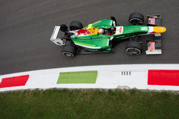 2014 GP2 Series. Round 9.   Autodromo di Monza, Monza, Italy. Friday 5 September 2014. Pierre Gasly (FRA, EQ8 Caterham Racing). Photo: Zak Mauger/GP2 Series Media Service. ref: Digital Image _L0U9412