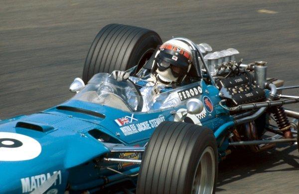 Jackie Stewart(GBR) Matra MS10, winner. Dutch Grand Prix, Zandvoort, Holland, 23 June 1968. BEST IMAGE