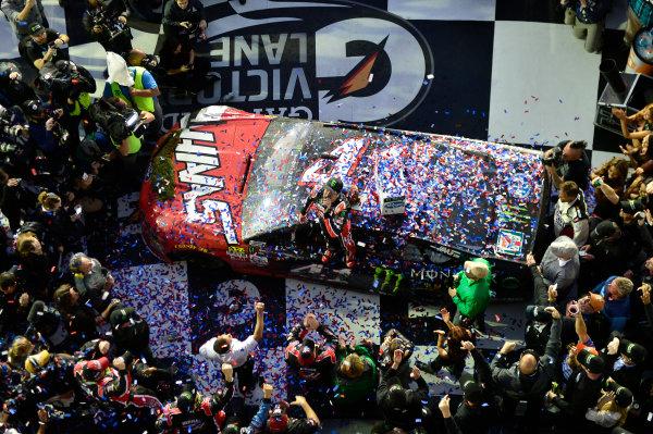 2017 NASCAR Monster Energy Cup - Daytona 500 Daytona International Speedway, Daytona Beach, FL USA Sunday 26 February 2017 Kurt Busch, celebrates after winning the Daytona 500. World Copyright: John K Harrelson / LAT Images ref: Digital Image 17DAY2jh_08610