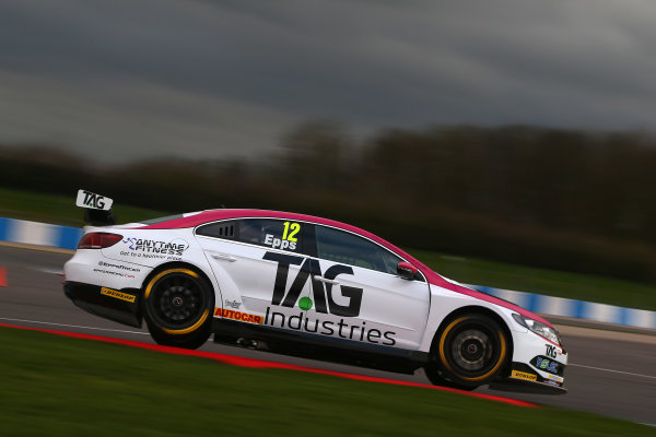 2017 British Touring Car Championship, Donington Park, England. 16th March 2017, Michael Epps (GBR) Autoaid / RCIB Insurance Racing Volkswagen CC World copyright. JEP/LAT Images