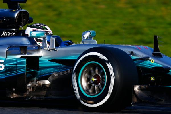 Circuit de Barcelona Catalunya, Barcelona, Spain. Monday 27 February 2017. Valtteri Bottas, Mercedes F1 W08 EQ Power+.  World Copyright: Zak Mauger/LAT Images ref: Digital Image _L0U9771