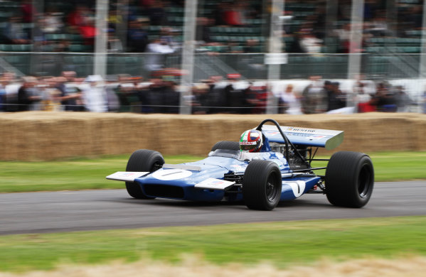 Goodwood Estate, West Sussex, England. 28th June - 1st July 2012. Marino Franchitti, March 701. World Copyright: Kevin Wood/LAT Photographic Ref: IMG_9426a