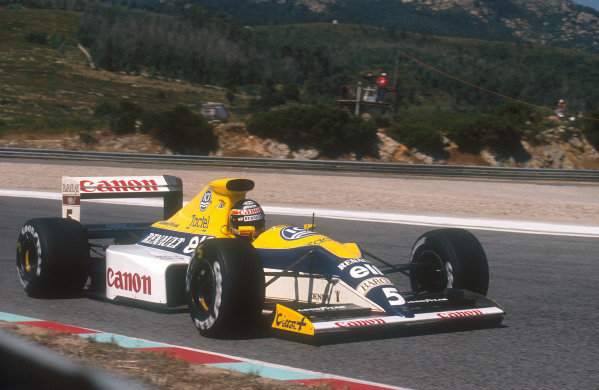 1990 Portuguese Grand Prix.Estoril, Portugal.21-23 September 1990.Thierry Boutsen (Williams FW13B Renault). He exited the race with a gearbox failure.Ref-90 POR 09.World Copyright - LAT Photographic