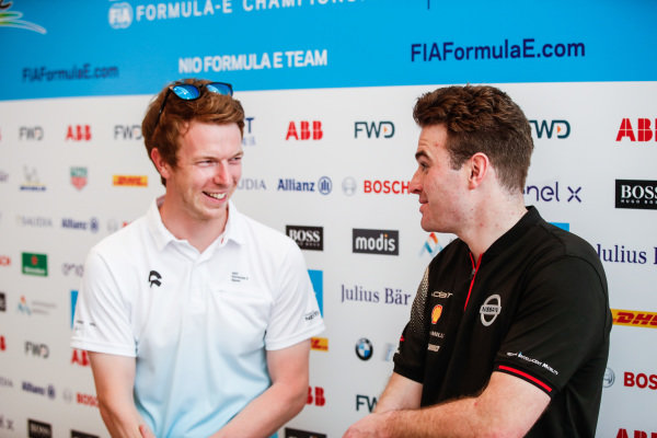 Oliver Turvey (GBR), NIO Formula E Team, with Oliver Rowland (GBR), Nissan e.Dams