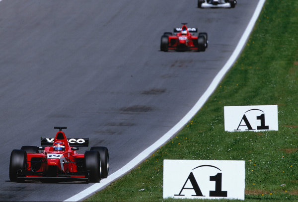 2002 F3000 ChampionshipA1-Ring, Austria. 11th May 2002.Race winner Tomas Enge leads Arden team mate, Bjorn Wirdheim.World Copyright: Clive Rose/LAT Photographicref: 35mm Image A15