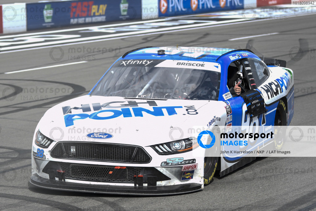 #98: Chase Briscoe, Stewart-Haas Racing, Ford Mustang Highpoint.com, wins Xfinity race at Pocono.
