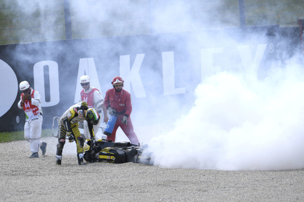 Francesco Bagnaia, Pramac Racing crash.