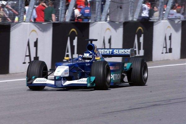 Kimi Raikkonen(FIN) Sauber Petronas C20 Austrian Grand Prix, A1-Ring 13 May 2001 DIGITAL IMAGE