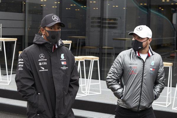 Lewis Hamilton, Mercedes-AMG Petronas F1 and Valtteri Bottas, Mercedes-AMG Petronas F1