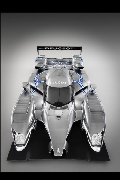 The Peugeot 908 HY hybrid was unveiled at Silverstone. Le Mans Series, Rd5, Silverstone, England, 14 September 2008.