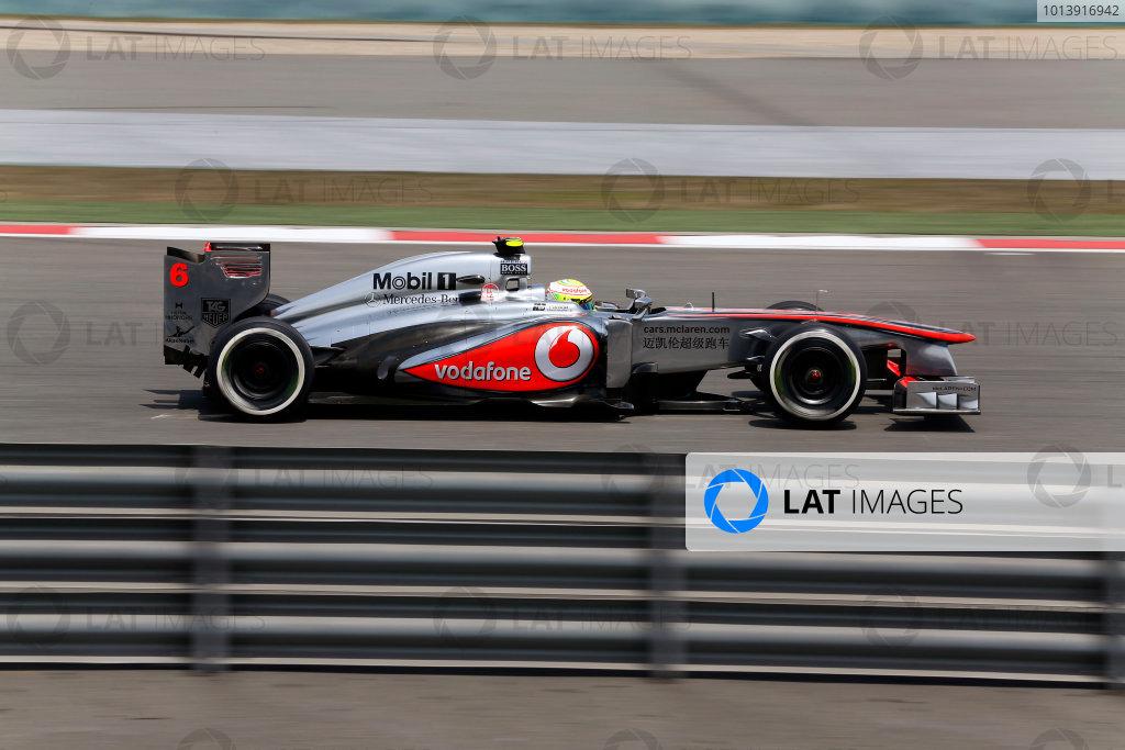Shanghai International Circuit, Shanghai, China Saturday 13th April 2013 Sergio Perez, McLaren MP4-28 Mercedes.  World Copyright: Steven Tee/LAT Photographic ref: Digital Image _14P6202