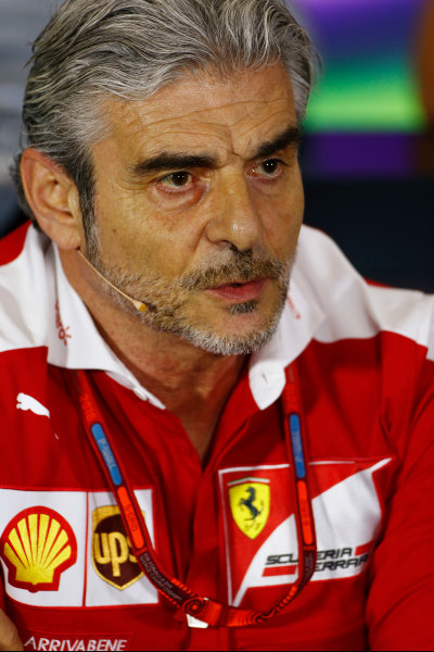 Silverstone, Northamptonshire, UK Friday 08 July 2016. Mauricio Arrivabene, Team Principal, Ferrari, in the Team Principals Press Conference. World Copyright: Andy Hone/LAT Photographic ref: Digital Image _ONY8118