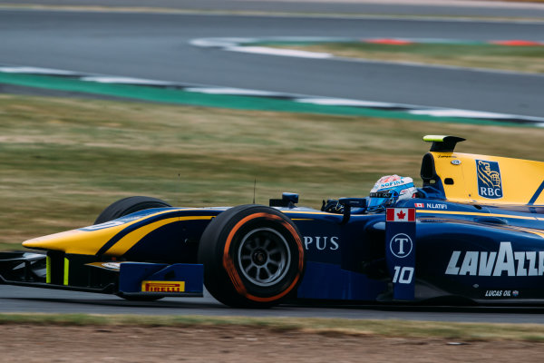2017 FIA Formula 2 Round 6. Silverstone, Northamptonshire, UK. Sunday 16 July 2017. Nicholas Latifi (CAN, DAMS).  Photo: Malcolm Griffiths/FIA Formula 2. ref: Digital Image MALC7735