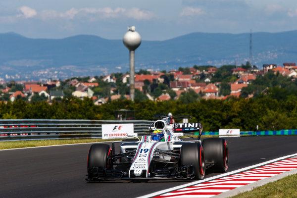Hungaroring, Budapest, Hungary.  Friday 28 July 2017. Felipe Massa, Williams FW40 Mercedes. World Copyright: Andy Hone/LAT Images  ref: Digital Image _ONY9394