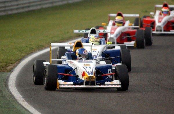 Race winner Sebastian Vettel (GER) Eifelland Racing. Formula BMW ADAC Championship, Rd 3&4, Adria International Raceway, Italy. 11 May 2003.  DIGITAL IMAGE