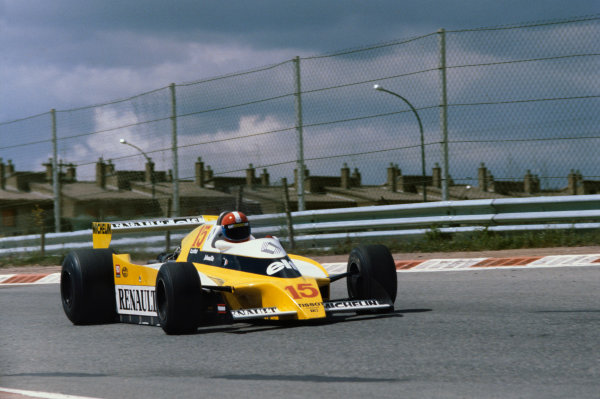 Jarama, Madrid, Spain.27th - 29th April 1979.Jean-Pierre Jabouille (Renault RS10) retired, action.World Copyright - LAT Photographic