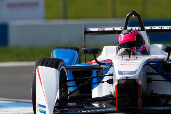 FIA Formula E Test Day, Donington Park, UK.  9th - 10th July 2014.  Franck Montagny, Andretti Autosport. Photo: Sam Bloxham/FIA Formula E ref: Digital Image _SBL9373