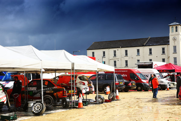 2017 British Rally Championship, Ulster Rally, Londonderry. 18th - 19th August 2017. Service park in Londonderry World Copyright: JEP/LAT Images.