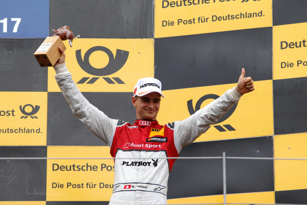 2017 DTM Round 8  Red Bull Ring, Spielberg, Austria  Sunday 24 September 2017. Podium: third place Nico Müller, Audi Sport Team Abt Sportsline, Audi RS 5 DTM  World Copyright: Alexander Trienitz/LAT Images ref: Digital Image 2017-DTM-RBR-AT3-2761