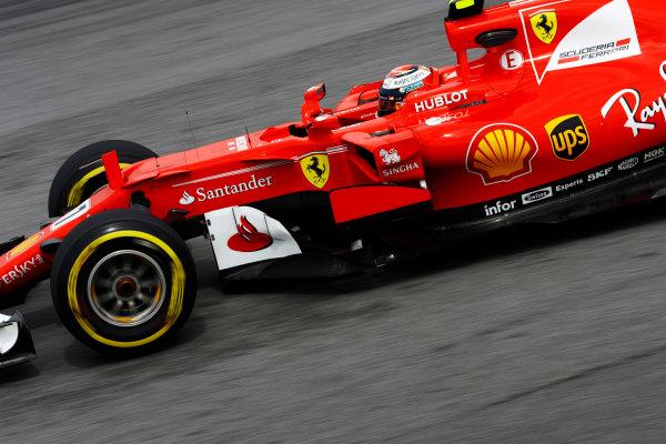 Sepang International Circuit, Sepang, Malaysia. Friday 29 September 2017. Kimi Raikkonen, Ferrari SF70H.  World Copyright: Steven Tee/LAT Images  ref: Digital Image _R3I3129