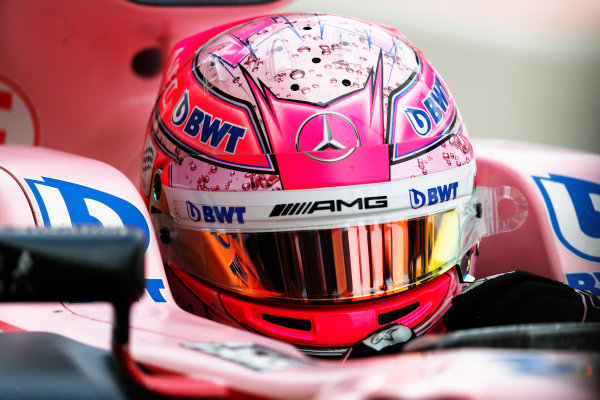 Suzuka Circuit, Japan. Saturday 07 October 2017. Esteban Ocon, Force India VJM10 Mercedes.  World Copyright: Glenn Dunbar/LAT Images  ref: Digital Image _31I6801