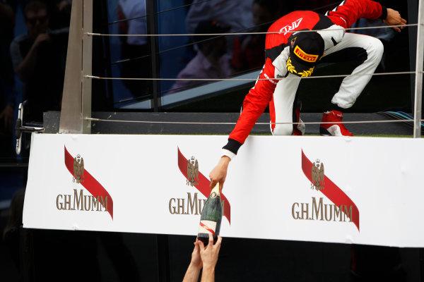 2015 GP3 Series Round 3.  Silverstone, Northamptonshire, England. Sunday 5 July 2015. Esteban Ocon (FRA, ART Grand Prix)  Photo:  Sam Bloxham/GP3 Media Service ref: Digital Image _G7C1758