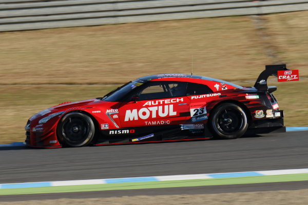 2017 Japanese Super GT Series. Motegi, Japan.  11th - 12th November 2017. Rd 8. GT500 Winner Tsugio Matsuda & Ronnie Quintarelli ( #23  MOTUL AUTECH GT-R ) action World Copyright: Yasushi Ishihara/LAT Images ref: Digital Image 2017_SGT_Rd8_003