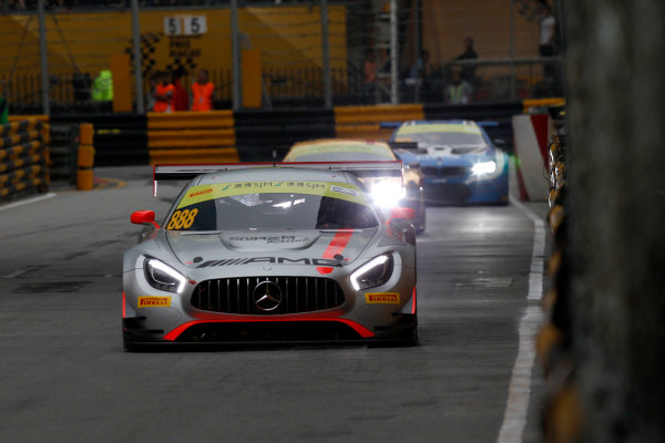 2015 FIA GT World Cup Circuit de Guia, Macau, China Saturday 18 November 2017. Raffaele Marciello, Mercedes-AMG Team GruppeM Racing, Mercedes - AMG GT3  World Copyright: Alexander Trienitz/LAT Images ref: Digital Image 2017-Macau-GP-AT1-2715