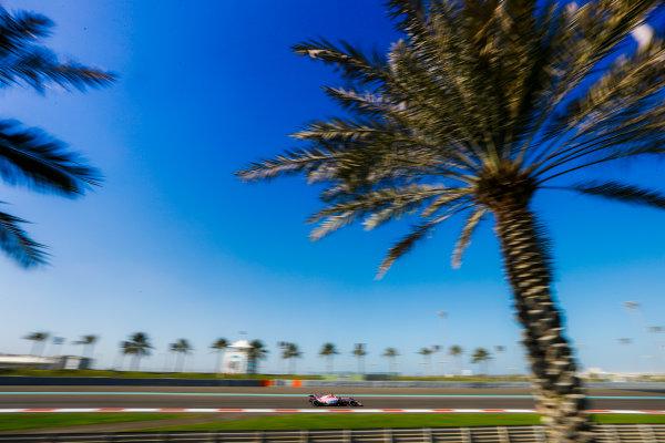 Yas Marina Circuit, Abu Dhabi, United Arab Emirates. Wednesday 29 November 2017. Esteban Ocon, Force India VJM10 Mercedes. World Copyright: Joe Portlock/LAT Images  ref: Digital Image _R3I4326