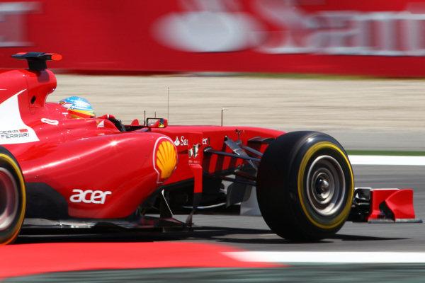 Fernando Alonso (ESP) Ferrari 150 Italia. Formula One World Championship, Rd 5, Spanish Grand Prix, Qualifying Day, Barcelona, Spain, Saturday 21 May 2011.  BEST IMAGE