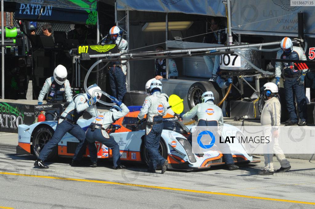 16-18 September, 2011, Monterey, California USA#007 Aston Martin Racing AMR/Lola Coupe B09 60 pitstop.(c)2011,  Dan R. Boyd  LAT Photo USA