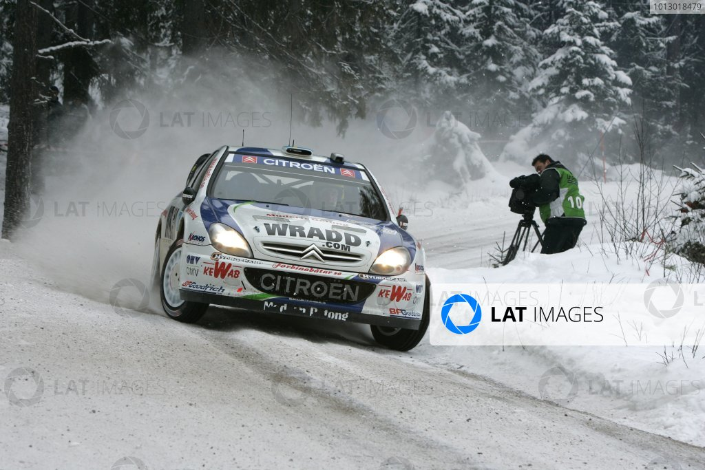 2007 FIA World Rally Championship,Round 2 Swedish Rally 8th-11th February 2007,Daniel Carlsson, Citroen, action.Worldwide Copyright McKlein/LAT.