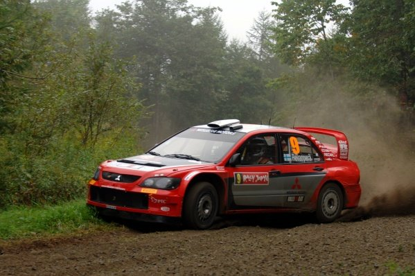 2005 FIA World Rally Championship, Rally Japan, September 29 - October 2, 2005.Obihiro, Japan.Leg 2.Harri Rovanpera (FIN) on stage 10.Digital Image