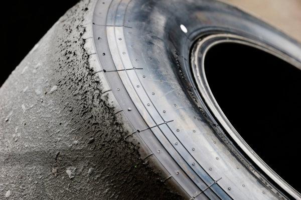 Interlagos, Sao Paulo, Brazil. Saturday 8 November 2014. Worn tyre. World Copyright: Steven Tee/LAT Photographic. ref: Digital Image _L4R1602