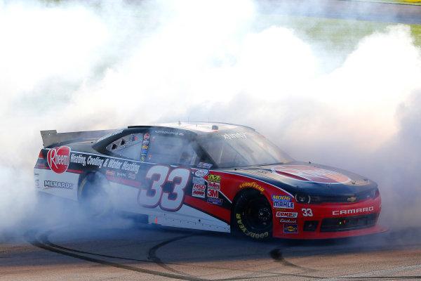 6-7 March, 2015, Las Vegas, Nevada USA Austin Dillon celebrates his win with a burnout ?2015, Russell LaBounty LAT Photo USA