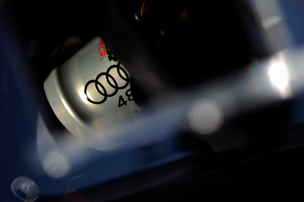 22-25 January, 2015, Daytona Beach, Florida USA Logo detail, #48 Audi entry. ?2015, F. Peirce Williams LAT Photo USA