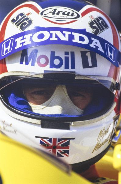 Nigel Mansell.