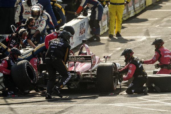 Jack Harvey, Meyer Shank Racing with Arrow SPM, pit stop