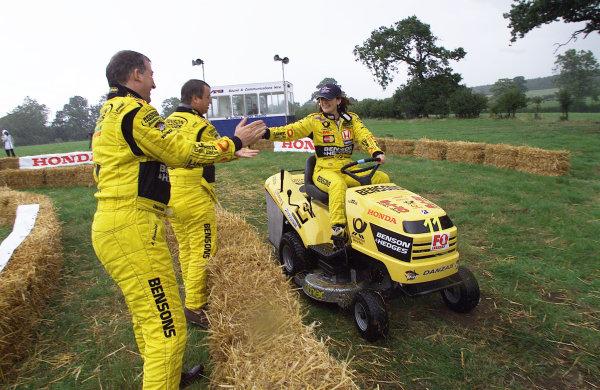 2001 British Grand PrixSilverstone, England. 12th July 2001.Honda lawn mower race.World Copyright: Steve Etherington/LAT Photographicref: 16mb Digital Image